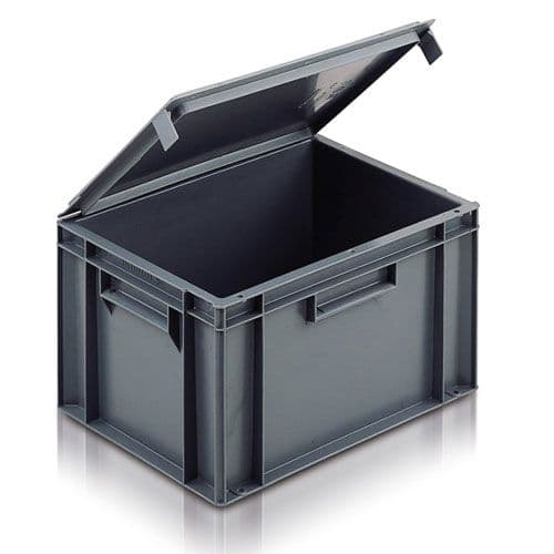 Attached Lid Euro Range Box ES1C2004 [21C20] Ext Dims: L400 x W300 x H246 mm