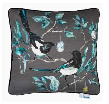 Collector Square Bird Cushion Charcoal