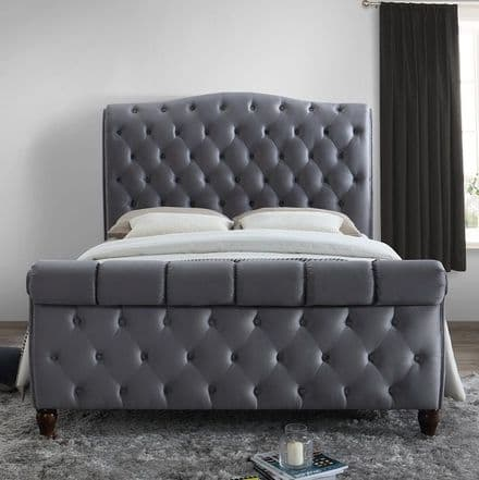 Colorado Grey Fabric King Sized Bed