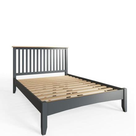 Geo Grey Painted Double Bed