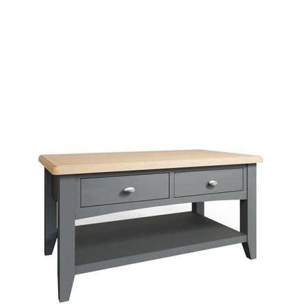 Geo Grey Painted Large Coffee Table