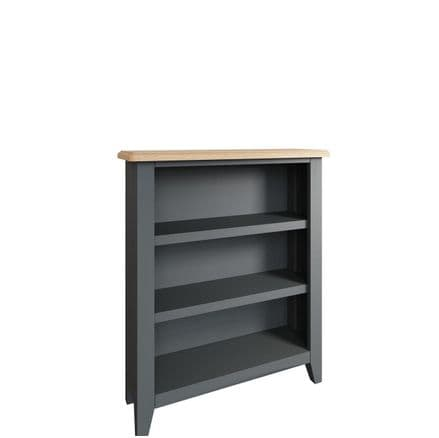 Geo Grey Painted Small Wide Bookcase
