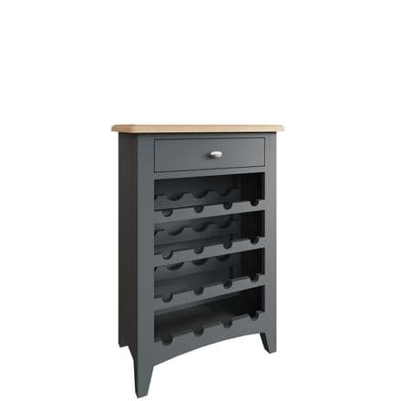 Geo Grey Painted Wine Cabinet