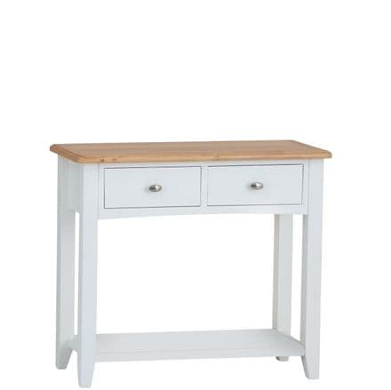Geo White Painted Console Table