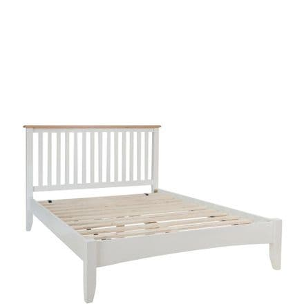 Geo White Painted King Size Bed