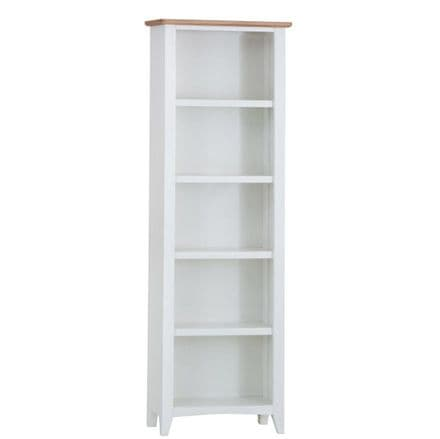 Geo White Painted Large Bookcase