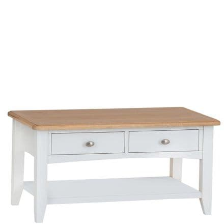 Geo White Painted Large Coffee Table