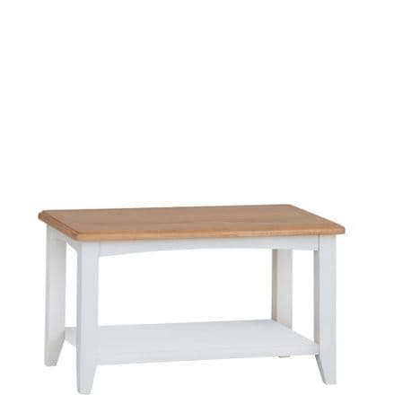 Geo White Painted Small Coffee Table