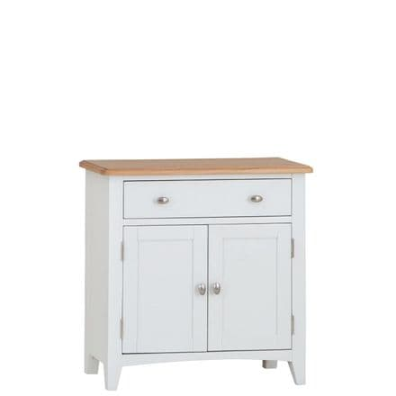 Geo White Painted Small Sideboard