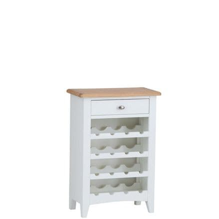 Geo White Painted Wine Cabinet