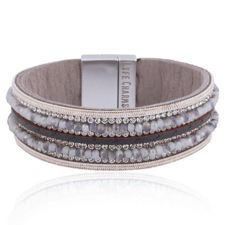 Grey Colour Wrap Bracelet