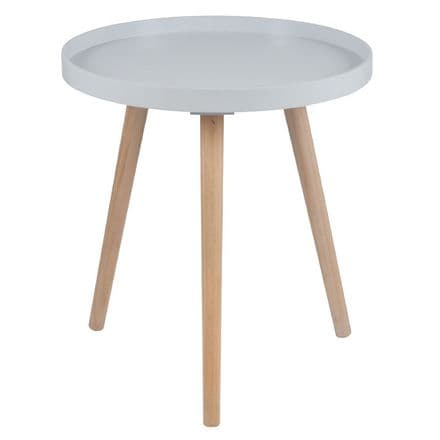 Light Grey Painted Side Table