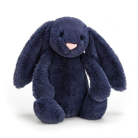 Medium Bashful Navy Bunny