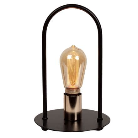 Metal Table Lamp with Vintage Filament Bulb
