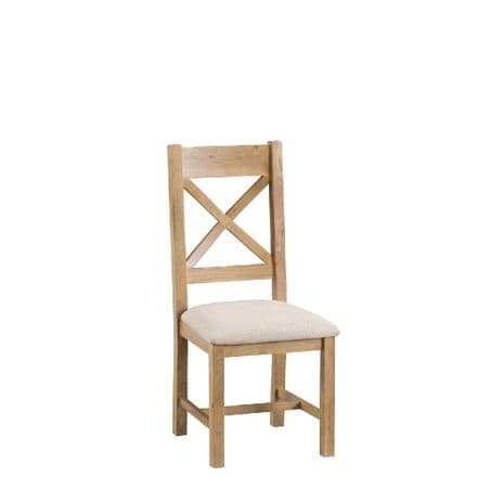 Oslo Oak Cross Back Chair with Padded Seat
