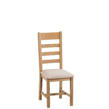 Oslo Oak Ladder Back Chair with Padded Seat