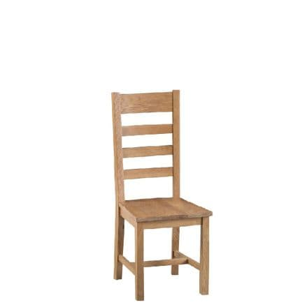 Oslo Oak Ladder Back Chair Wooden Seat