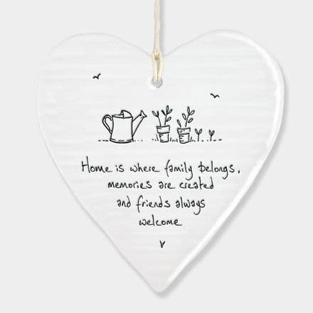 Porcelain Round Wobble  Heart - Home Is