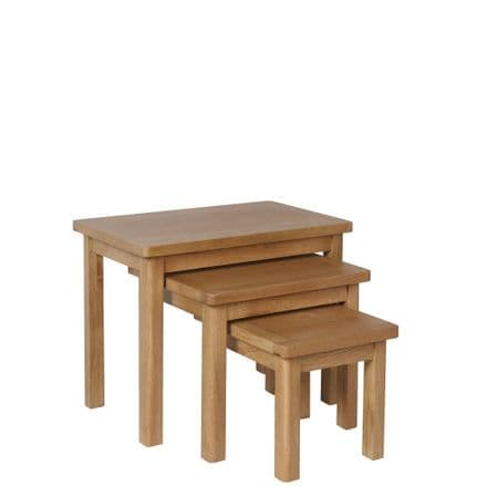 Richmond Oak Nest of 3 Tables
