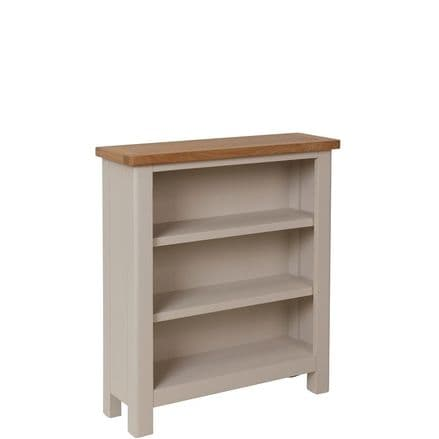 Richmond Painted Oak Small Wide Bookcase