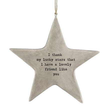 Rustic hanging star-Lucky stars