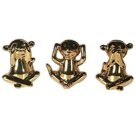 Set of 3 Speak Hear and See 'No Evil'