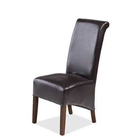 Talaja Cube Brown Bonded Leather Chair