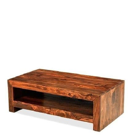 Talaja Cube Low Coffee Table with Shelf