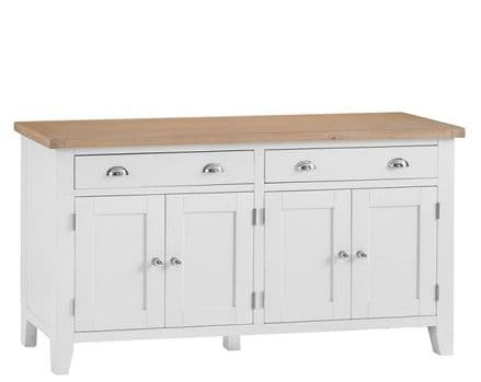 Toulouse White 4 Door Sideboard