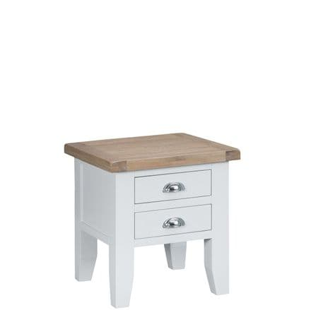 Toulouse White Lamp Table
