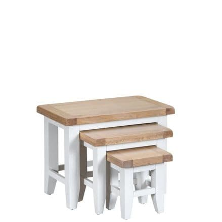 Toulouse White Nest of 3 Tables