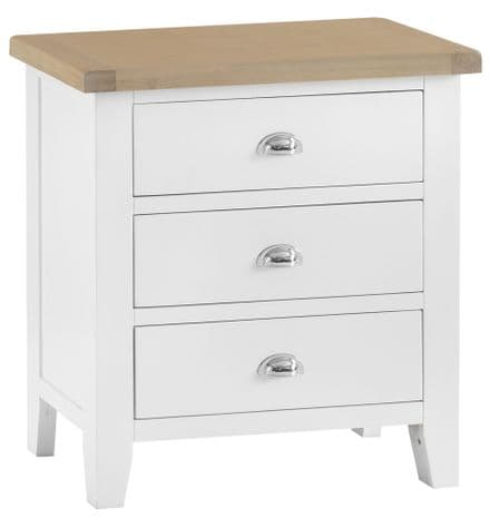 Toulouse White Painted 3 Drawer Chest