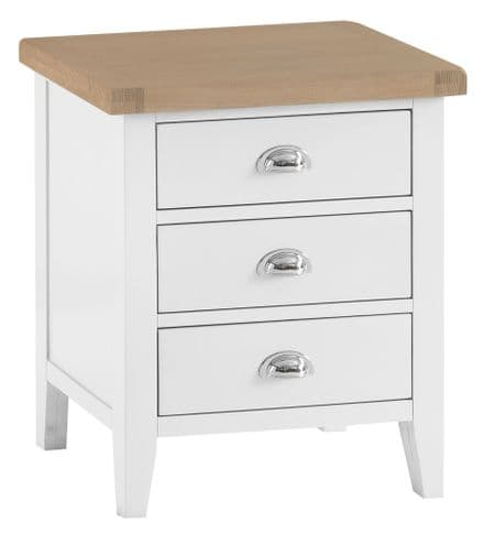 Toulouse White  Painted Extra Large Bedside