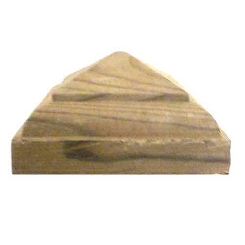 Temple Timber Fence Post Cap