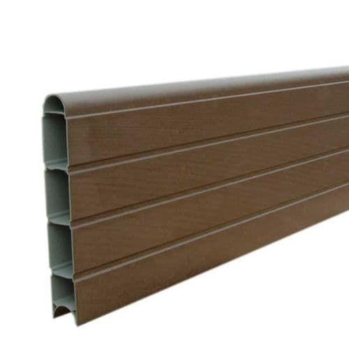 Walnut Eco Fencing Plastic Board