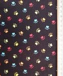 Colourful dog paws fabric UK - Pets material 4 legged friend - Price Per Metre