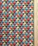 Colourful little multi cubes Fabric UK 80% Cotton 20% Poly material upholstered - Price Per Metre