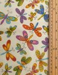 Dragonfly fabric UK - 100% cotton material colourful - Price Per Metre