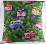 LARGE VW CAMPER VAN THEMED CUSHION - Camper Vans VW