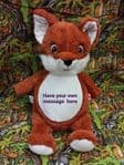 PERSONALISED CUBBIES TEDDY - Mr Fox Soft Toy