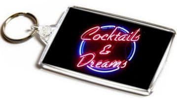 Cocktails and Dreams Jumbo Keyring
