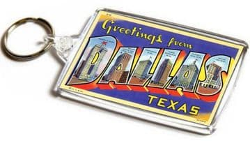 Greetings From Dallas Texas Jumbo Keyring