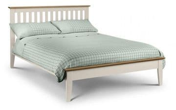 Salerno Shaker Bedframe (CREAM WHITE OR OAK)