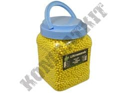 10000 x 6mm x 12g Yellow Polished Airsoft BB Gun Pellets in Tub with handle