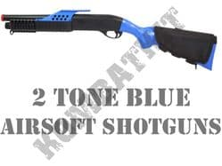 2 Tone Blue Airsoft Shotguns