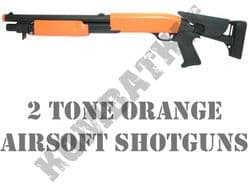 2 Tone Orange Airsoft Shotguns