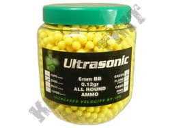 2000 x 6mm x 12g Yellow Polished Airsoft BB Gun Pellets in Tub Ultrasonic