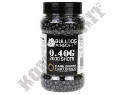 2000 x 6mm x 40g Black Polished Airsoft BB Gun Pellets in Tub