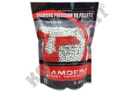 3570 x 6mm x 28g White Polished Airsoft BB Gun Pellets in Bag Ares Amoeba