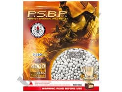 4000 x 6mm x 25g White Polished Airsoft BB Gun Pellets in Bag G&G Armament